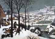 BRUEGEL, Pieter the Elder Hunters in the Snow painting