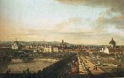Bernardo Bellotto Vienna,Seen from the Belvedere Palace oil painting reproduction
