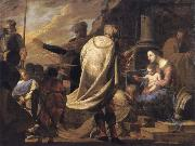 Bernardo Cavallino The adoration of the Magi oil on canvas