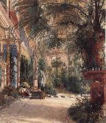 Carl Blechen The Palm House on the Pfaueninel oil on canvas