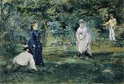 Edouard Manet A Game of Croquet oil painting reproduction