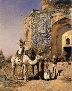 Edwin Lord Weeks Old Blue-Tiled Mosque,Outside Delhi,India painting