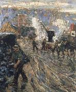 Ernest Lawson Building the New York oil on canvas