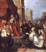 Frans Francken II Solomon and the Queen of Sheba oil