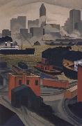 George Copeland Ault From Brooklyn Heights oil on canvas