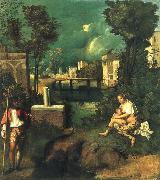Giorgione The storm oil painting