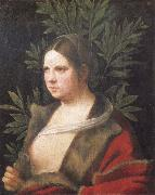 Giorgione Portrait of a young woman oil painting