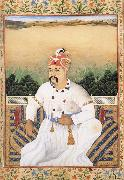 Gobindram Chatera Asaf ud Daula,Nawab-Wazir of Oudh oil on canvas
