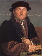 Hans holbein the younger Portrait of a young mercant oil painting reproduction