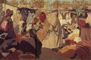 Henri Evenepoel Orange Market in Blidah painting