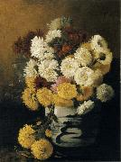 Hirst, Claude Raguet Chrysanthemums in a Canton Vase oil on canvas