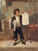 James H. Cafferty Newsboy Selling New-York oil on canvas