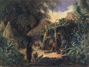 Johann Moritz Rugendas Indian Hut in the Village of Jalcomulco oil