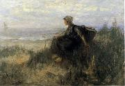 Jozef  Israels On the Dunes painting