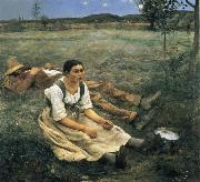 Jules Bastien-Lepage The Haymakers oil on canvas