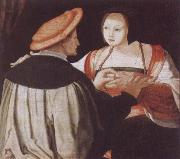 Lucas van Leyden The Engagement oil painting reproduction