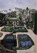 Max Beckmann Garden Landscape in Spring with Mountains oil painting reproduction