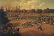 Otto Boetticher Seventh Regiment on Review oil on canvas