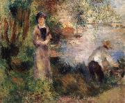 Pierre-Auguste Renoir On Chatou Island oil painting reproduction