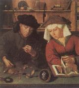 Quentin Massys The Moneylender and His Wife oil painting reproduction