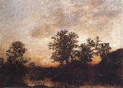 Ralph Blakelock After sundown oil