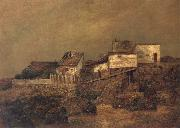 Ralph Blakelock Old New York Shanties at 55th Street and 7th Avenue oil