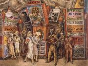 Reginald Marsh Twenty Cent Movie oil