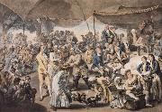 Richard Earlom Colonel Mordaunt-s Cock Match at Lucknow oil