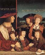 STRIGEL, Bernhard Emperor Maximilian I and his family painting