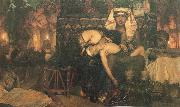 Sir Lawrence Alma-Tadema,OM.RA,RWS The Death of the first Born oil