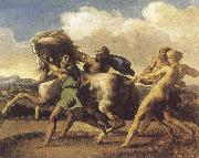 Theodore Gericault Slaves Restraining a House oil painting reproduction