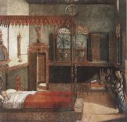 Vittore Carpaccio The Dream of St Ursula oil painting
