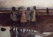 William Stott of Oldham The Kissing Ring oil painting