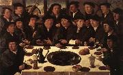 ANTHONISZ  Cornelis Banquet of Members of Amsterdam's Crossbow Civic Guard oil on canvas