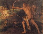 Albrecht Durer Hercules Kills the Stymphalic Birds painting