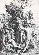 Albrecht Durer Hercules at the Crossroads painting