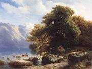 Alexandre Calame THe Lake of Thun oil on canvas