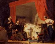 Alexandre-Evariste Fragonard Cardinal Mazarin at the Deathbed of Eustache Le Sueur oil painting reproduction