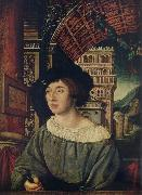 Ambrosius Holbein Portrait of a young man oil on canvas