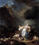 Anicet-Charles-Gabriel Lemonnier Apollo and Diana Attacking Niobe and her Children oil on canvas