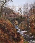 Atkinson Grimshaw Ghyll Beck Barden Yorkshire Early Spring oil painting reproduction