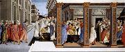 BOTTICELLI, Sandro Baptism of St Zenobius and His Appointment as Bishop oil painting reproduction
