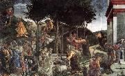 BOTTICELLI, Sandro Scenes from the Life of Moses oil painting reproduction