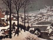 BRUEGHEL, Pieter the Younger The Hunters in the Snow oil painting reproduction