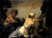 Baron Jean-Baptiste Regnault The Origin of Painting: Dibutades Tracing the Portrait of a Shepherd oil