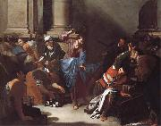 Bernardo Cavallino Christ Driving the Traders from the Temple oil on canvas