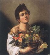 Caravaggio Boy with a Basket of Fruit oil painting reproduction