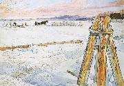 Carl Larsson Harverstion Ice painting