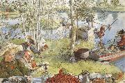 Carl Larsson The Crayfish Season Opens china oil painting artist