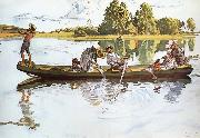 Carl Larsson On Viking Expedition in Dalarna oil painting reproduction